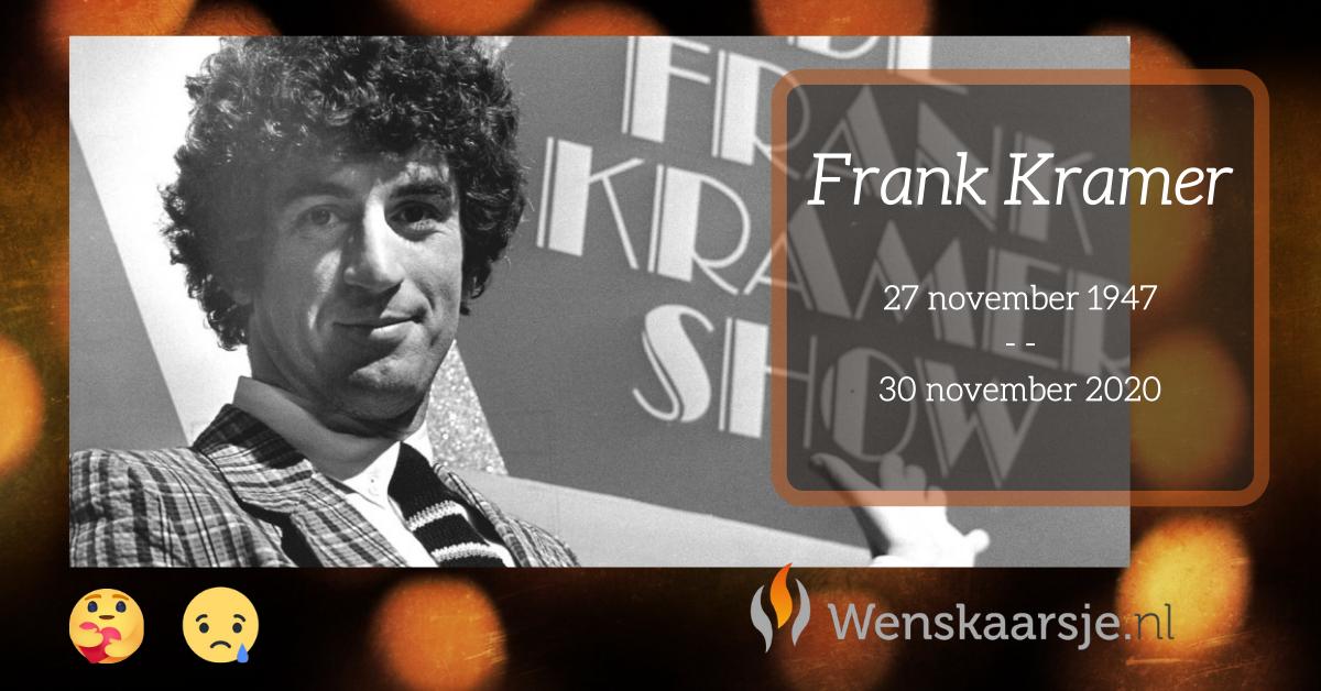Frank Kramer overleden